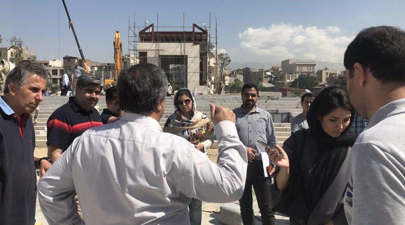 گزارش بازدید از کارگاه پروژه باغ ایرانی خیابان دامپزشکی